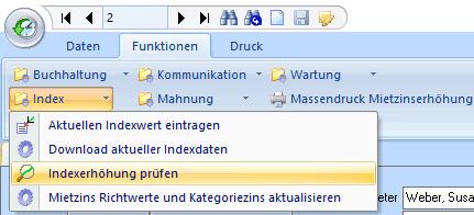 """Funktion """"Indexerhöhung prüfen"""""""